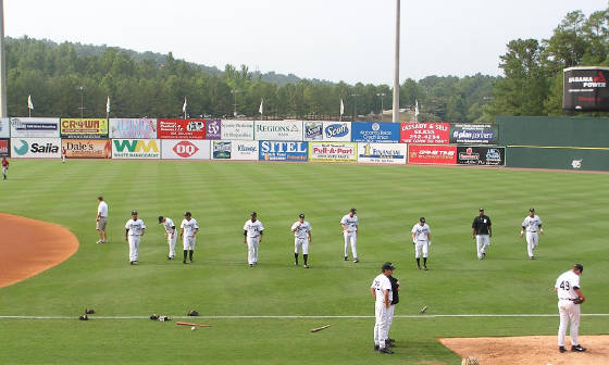 Pre-game workout at Hoover Met