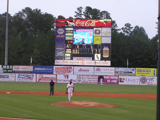 The Scoreboard at Hoover Metropolitan Stadium